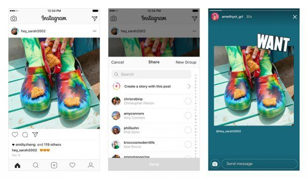 Instagram permite compartir fotos de tu perfil en las Stories