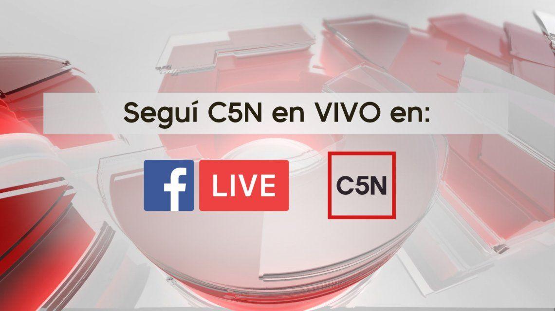 También podés seguir en vivo a C5N por Facebook Live
