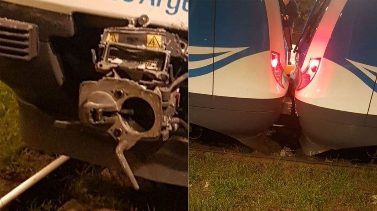 Choque de trenes en Tolosa - Crédito: 0221