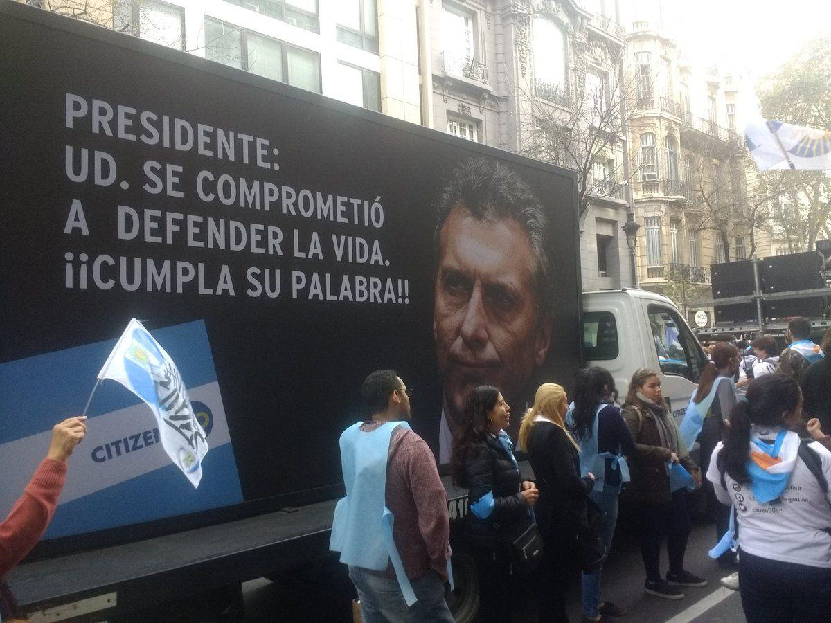 Marcha contra la legalización del aborto - Crédito:@PabloxGuinaz