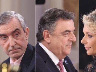 Nelson Castro, Mario Negri y EvelynVan Brocke