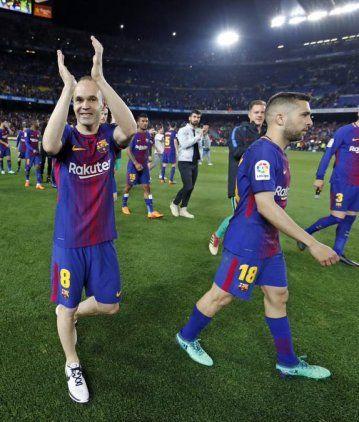 Despedida de Iniesta de Barcelona - Crédito: @FCBarcelona