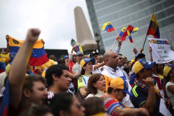 Protesta de venezolanos en México