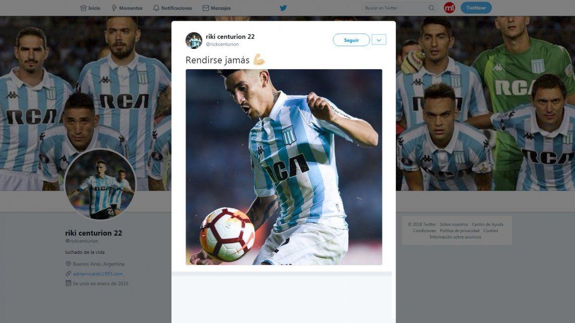 El llamativo tuit de Ricardo Centurión