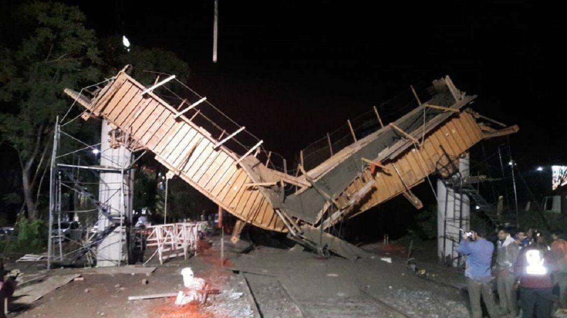 Por un derrumbe, el tren San Martín no llega hasta Retiro: hay cuatro heridos