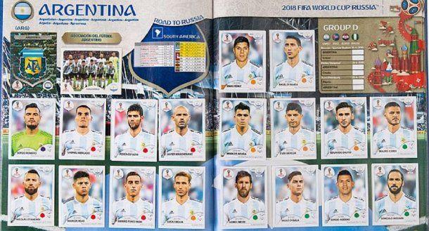El álbum del Mundial con los jugadores de la Selección