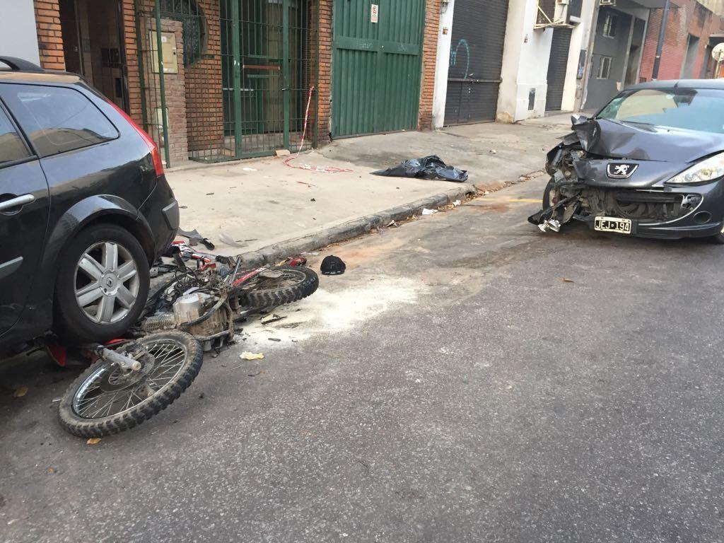 Uno de los dos asaltante murió en el acto