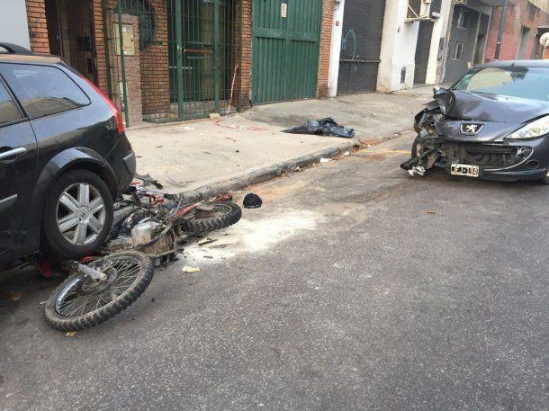 Uno de los dos asaltante murió en el acto<br>