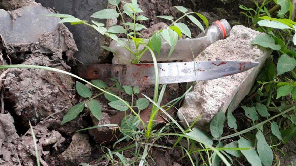 Este es el cuchillo que encontraron con el que la joven habría asesinado al abuelo