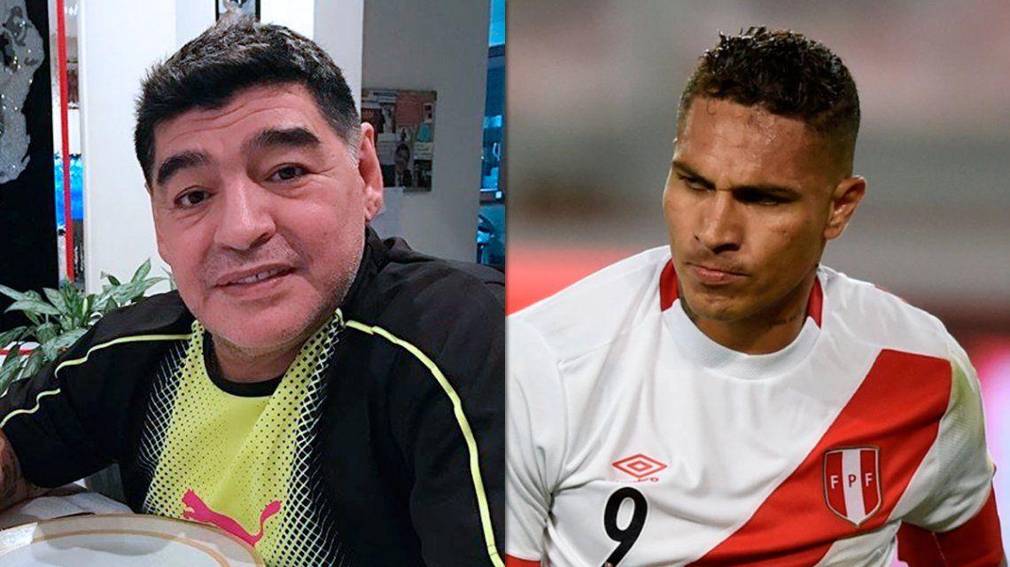 El emotivo mensaje de Maradona para Paolo Guerrero: Yo tuve una enfermedad