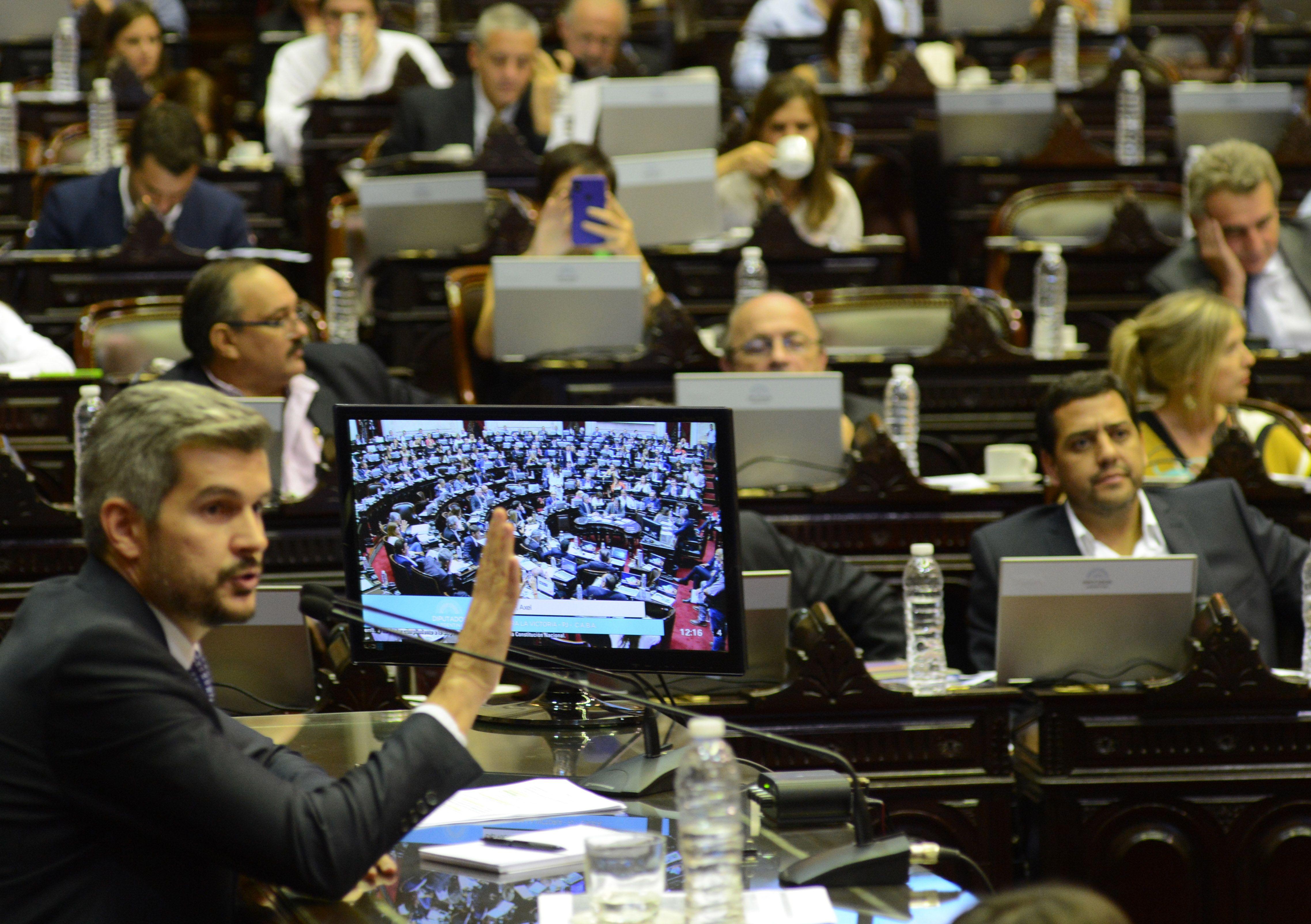 Marcos Peña se presenta en la Cámara de Diputados