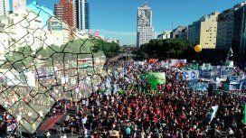 Obelisco, Congreso y Plaza de Mayo: el mapa con los cortes por la marcha de la CGT y CTA