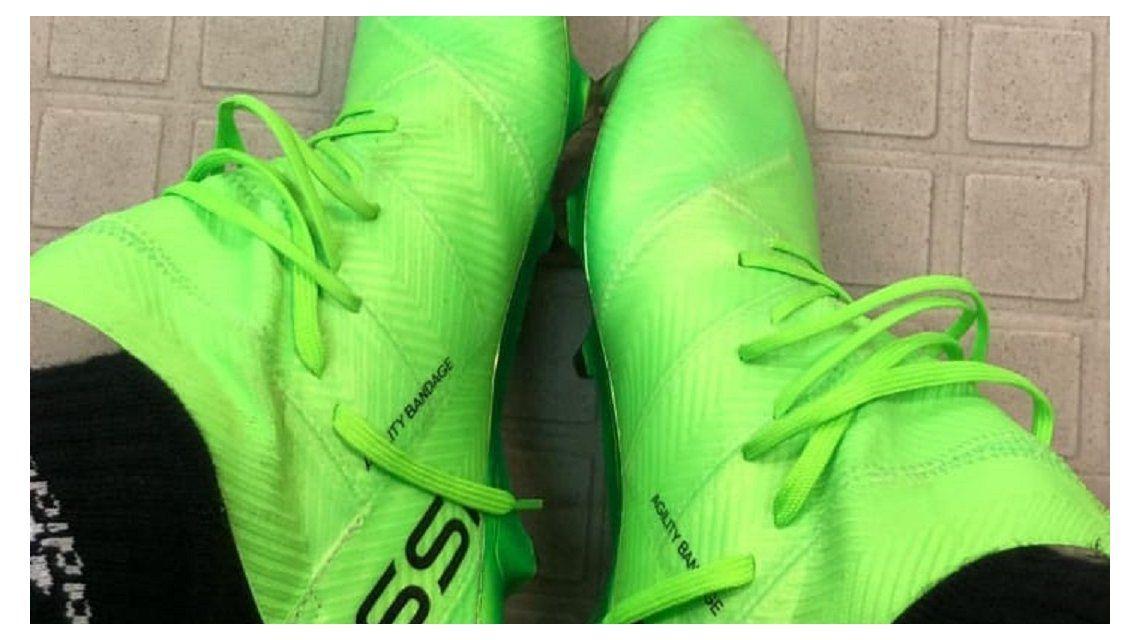 Lionel Messi mostró los botines que usará en el Mundial de Rusia
