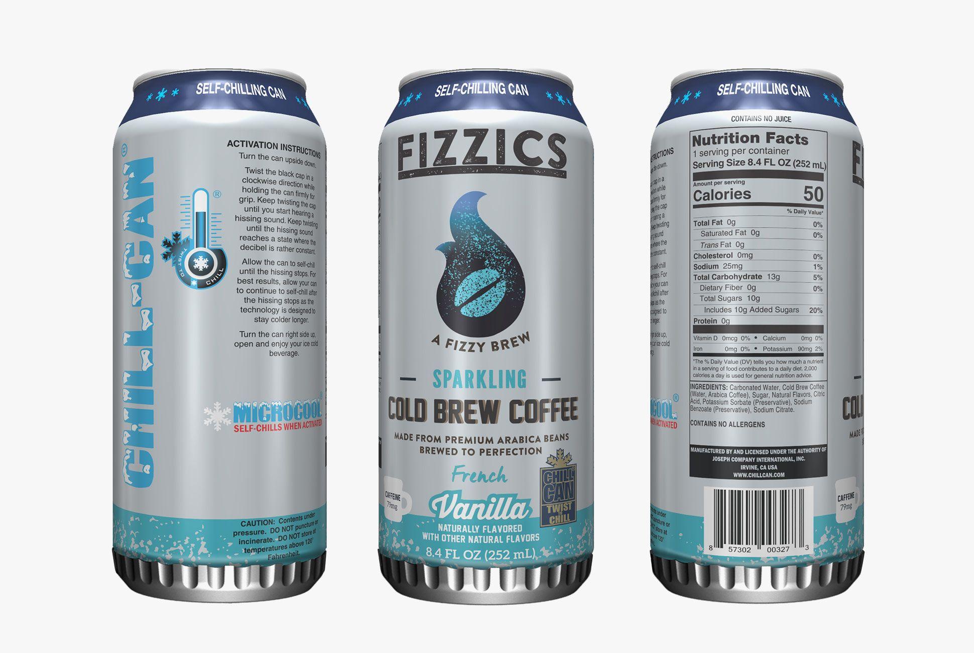 Las latas cuyo nombre comercial es Chill-Can se venden en los supermercados estadounidenses.