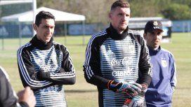 Armani y Di María en la Selección - Crédito:@Argentina