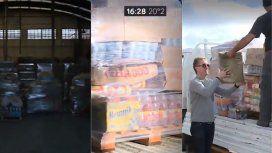 Un empresario donó 2 toneladas de comida