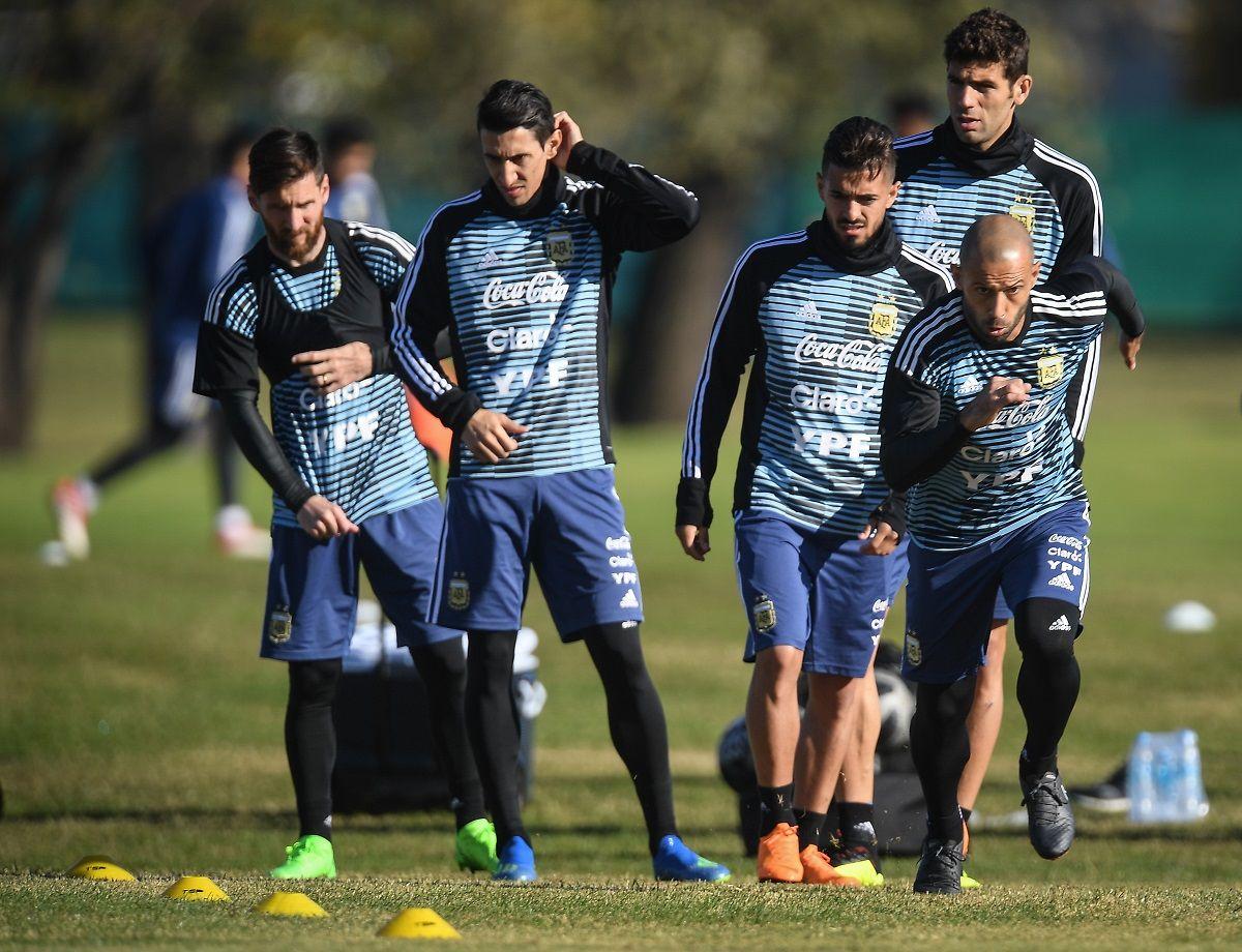 Meza se sumó a los entrenamientos de la Selección en Ezeiza