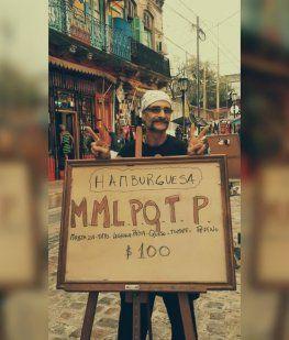 La hamburguesa MMLPQTP es una creación de Napo, en La Boca