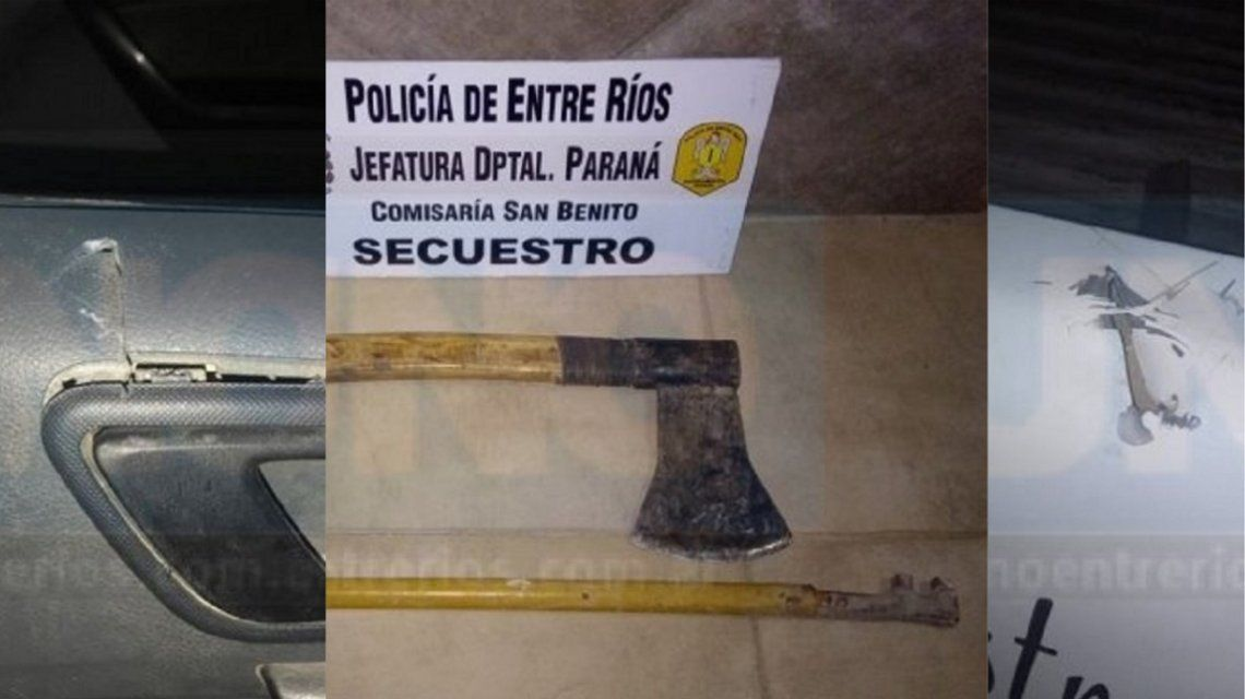 Atacó a la Policía con un hacha y un caño - Crédito: Policía de Entre Ríos