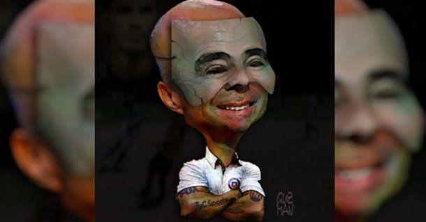 La caricatura que posteó Jorge Guzmán en Facebook.