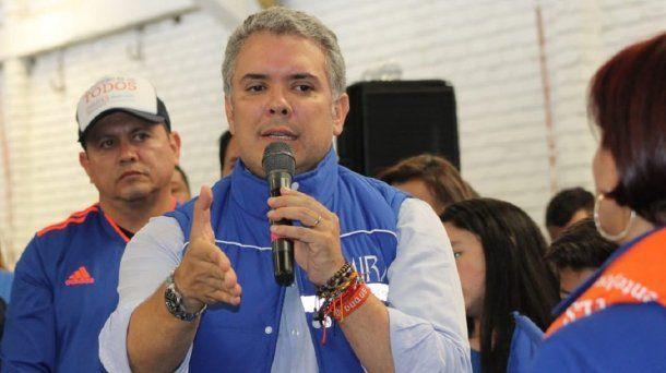 Iván Duque se impuso en la primera vuelta en Colombia - Crédito: @IvanDuque