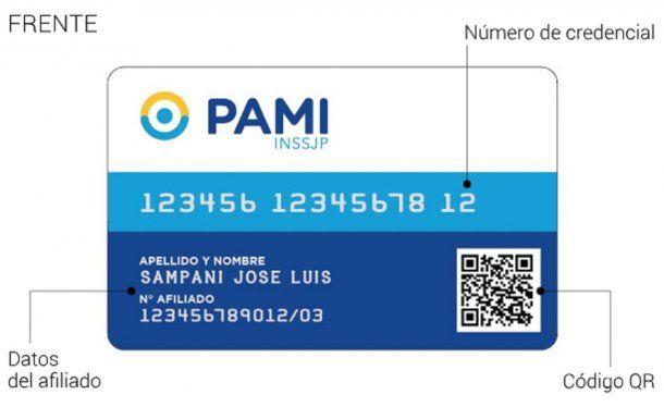 Así es la nueva credencial. PAMI