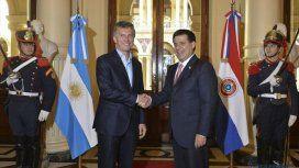 Cartes, cuando todavía era presidente de Paraguay, en una visita oficial a Argentina.