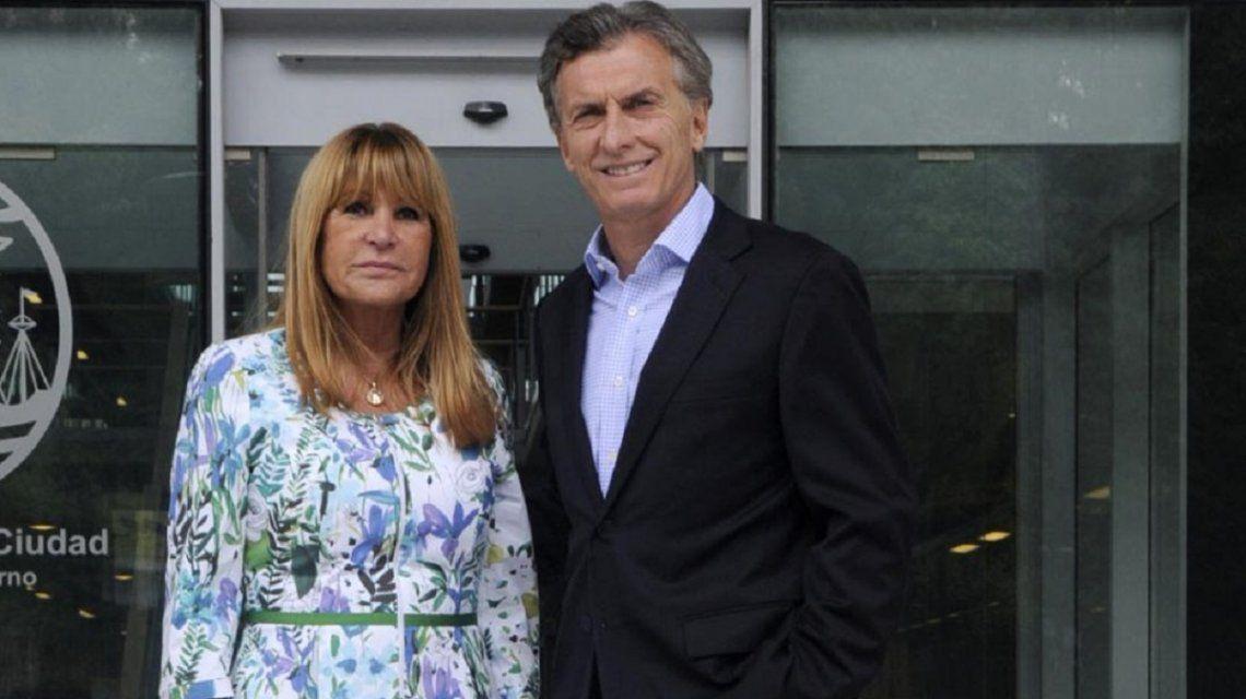 Aída Ayala y Mauricio Macri