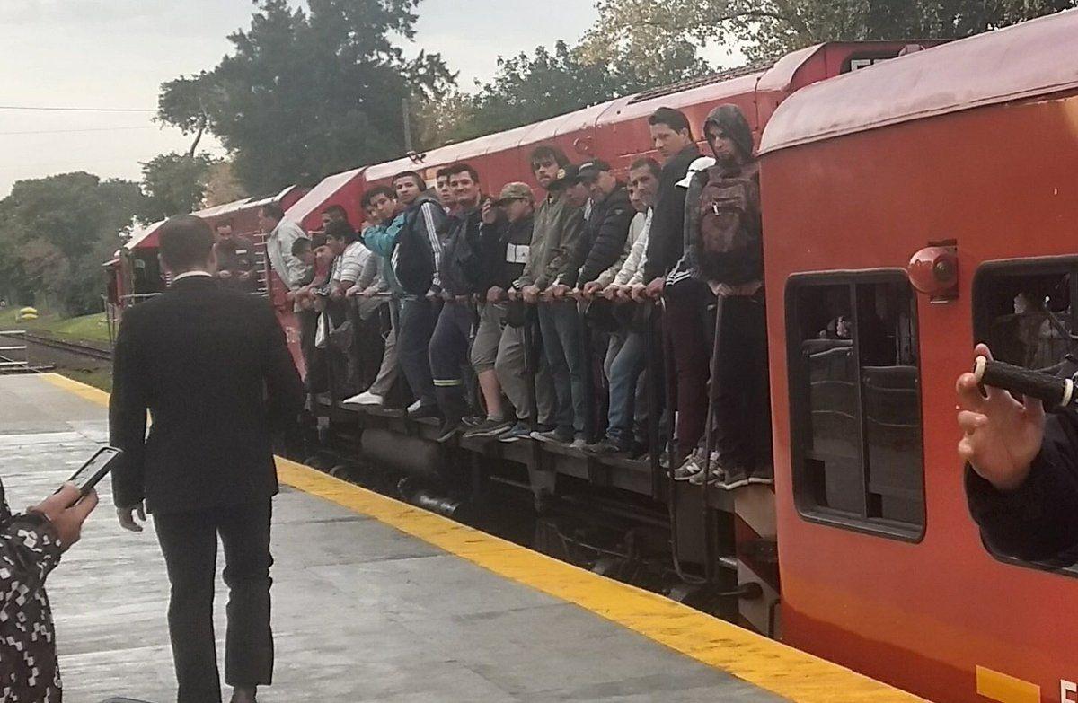 Así se viajó en el Belgrano Norte este lunes antes de la suspensión