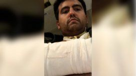 Diego fue herido en su brazo derecho al huir de los delincuentes