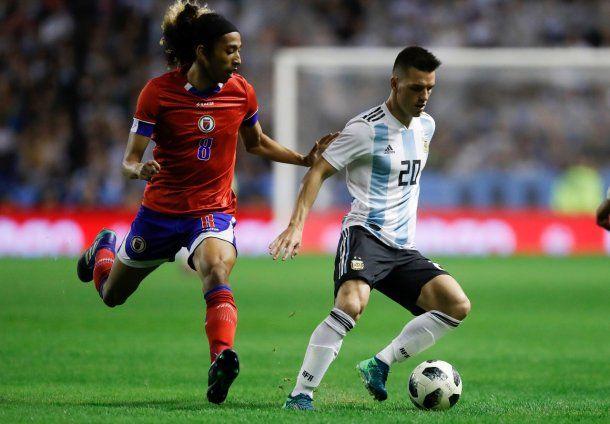<p>Lo Celso jugó contra Haití pero en Rusia no tuvo ni un minuto</p>