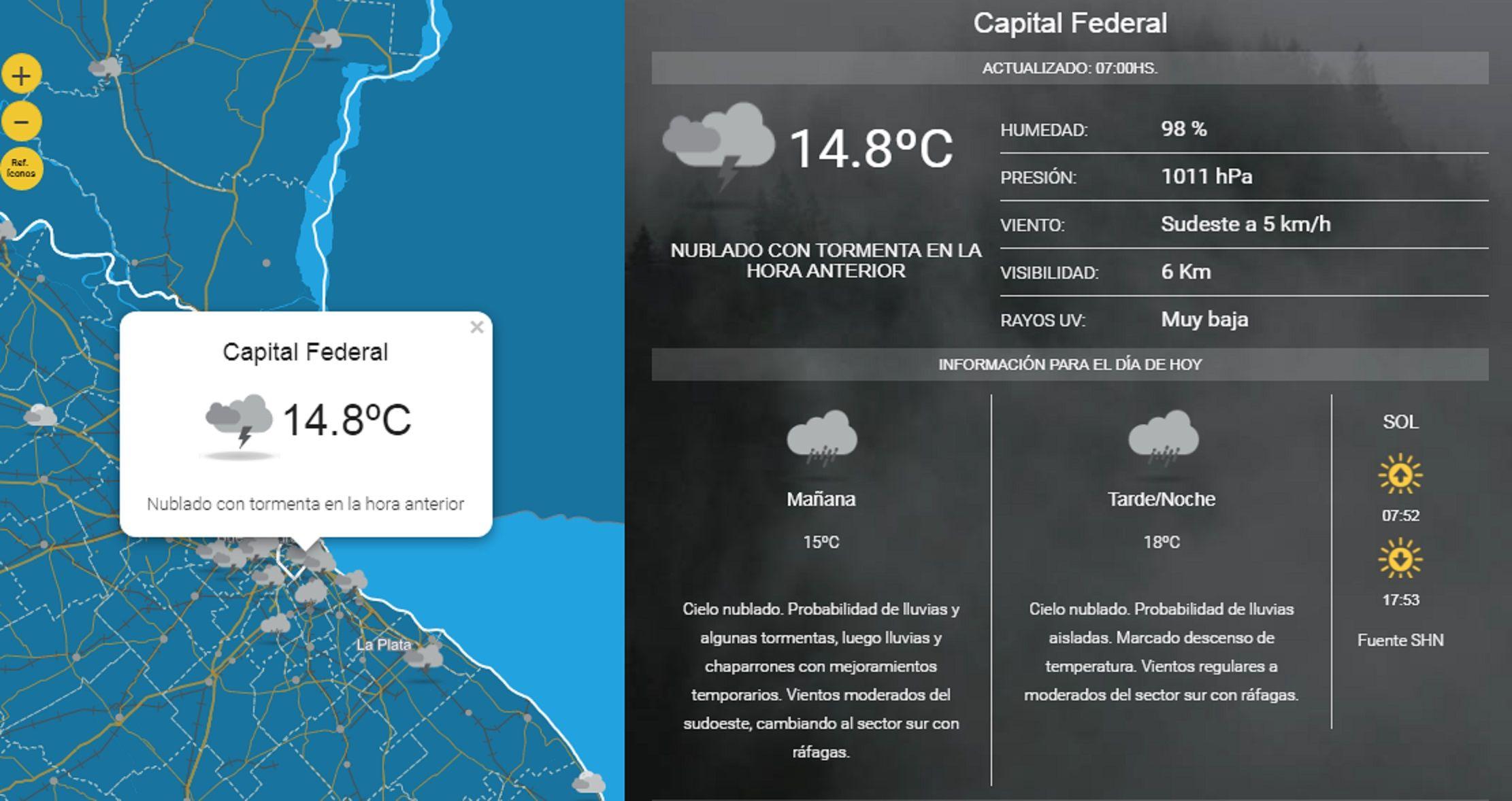 Clima: ¿hasta cuándo va a llover en la Ciudad?