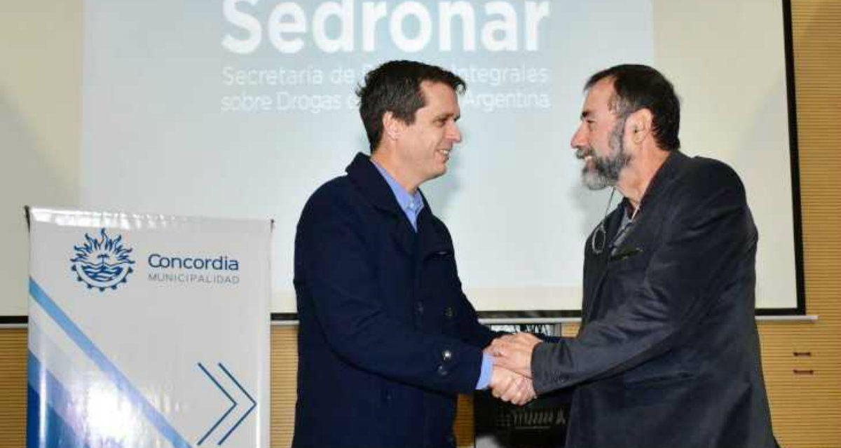 Cresto recibió a Juan Carlos Mansilla enConcordia para la firma de los convenios