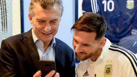 Mauricio Macri con Lionel Messi