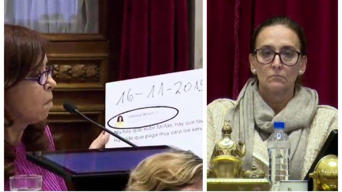 Cristina Kirchner y Gabriela Michetti quedaron enfrentadas una vez más en el Senado