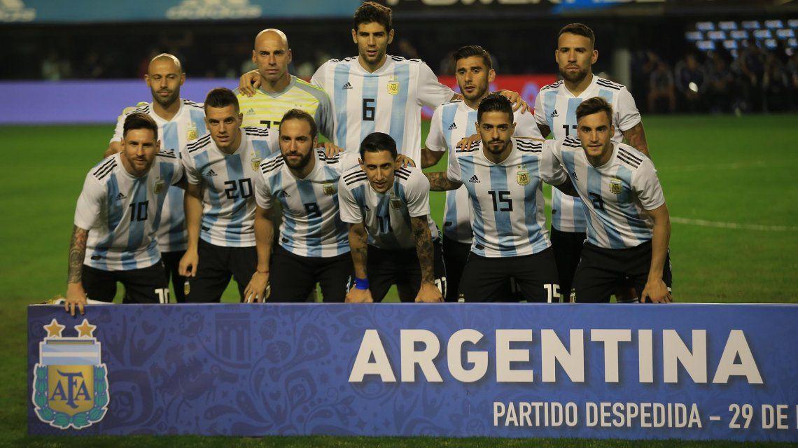 El equipo de Argentina que enfrentó a Haití