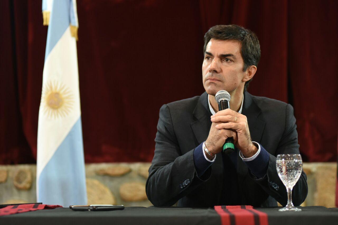 Juan Manuel Urtubey en conferencia de prensa