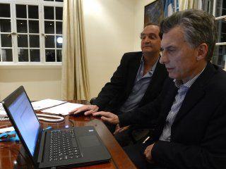 Mauricio Macri y el el secretario Legal y Técnico, Pablo Clusellas.