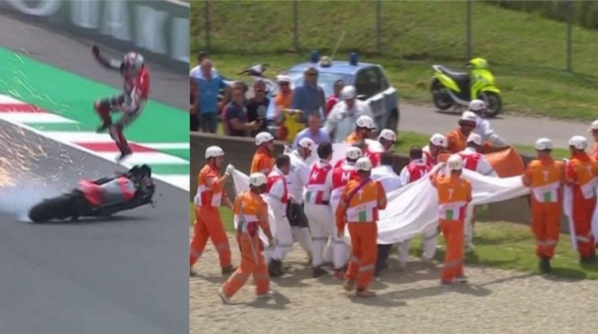 Michele Pirro se accidento en el Gran Premio de Italia