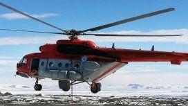 La comunicación desde el helicóptero varado en Catamarca: Tenemos calefacción
