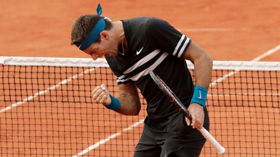 Del Potro en Roland Garros