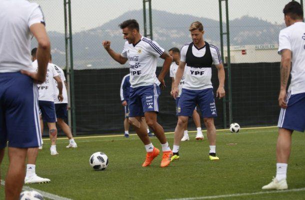 Entrenamiento de la Selección en Barcelona - Crédito: @Argentina