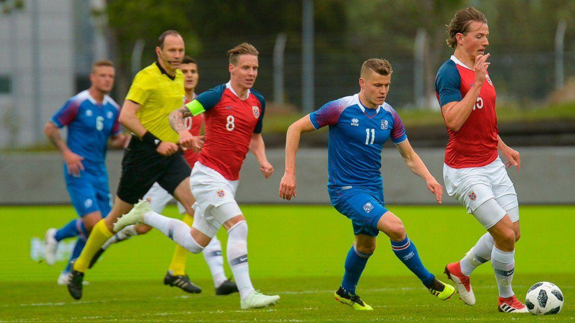 Islandia y Noruega disputaron un partidazo