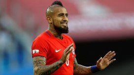 Arturo Vidal calentó la previa del partido ante Argentina por el tercer puesto