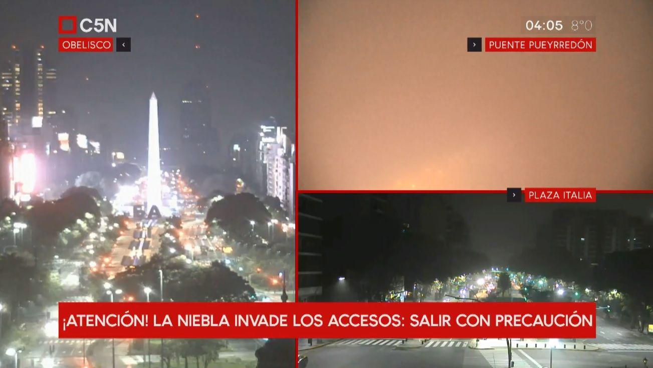 Niebla en la Ciudad de Buenos Aires