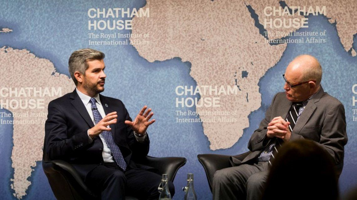 El jefe de Gabinete Marcos Peña expuso en la Conferencia sobre la Presidencia Argentina del G20.