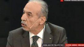 El embajador dePalestinaen Argentina,Husni Abdel Wahed.