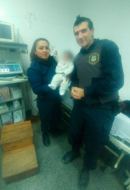 El bebé tenía principio de bronquiolitis