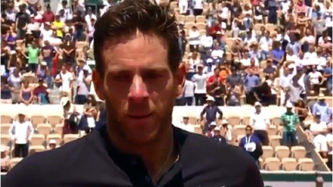 El video más emotivo de Del Potro: se quebró en plena entrevista en Roland Garros