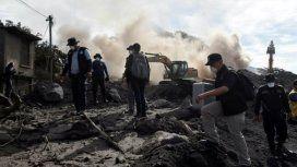 Miles de casas quedaron sepultadas bajo escombros y ceniza